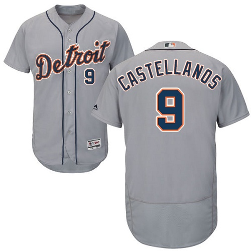 Tigers #9 Nick Castellanos Grey Flexbase Authentic Collection Stitched MLB Jersey
