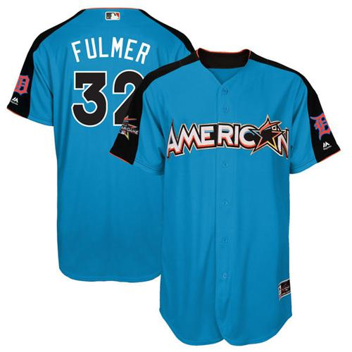 Tigers #32 Michael Fulmer Blue All-Star American League Stitched MLB Jersey