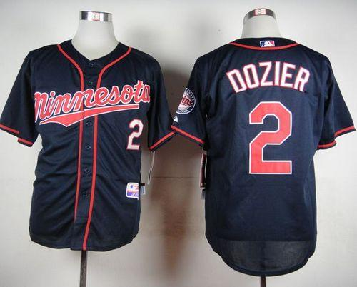 Twins #2 Brian Dozier Navy Blue Cool Base Stitched MLB Jersey