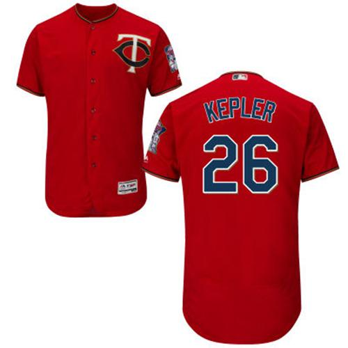 Twins #26 Max Kepler Red Flexbase Authentic Collection Stitched MLB Jersey