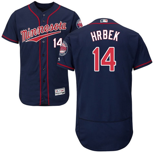 Twins #14 Kent Hrbek Navy Blue Flexbase Authentic Collection Stitched MLB Jersey