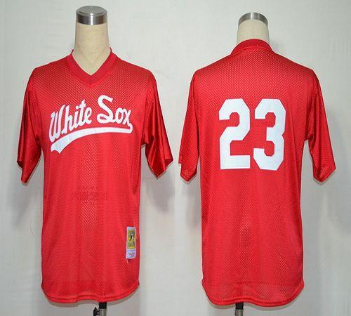 1990 Mitchell And Ness White Sox #23 Robin Ventura Red Throwback Stitched MLB Jersey