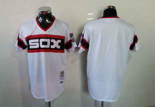 Mitchell And Ness White Sox Blank White Throwback Stitched MLB Jersey