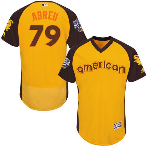 White Sox #79 Jose Abreu Gold Flexbase Authentic Collection 2016 All-Star American League Stitched MLB Jersey