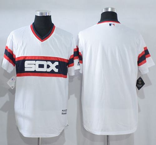 White Sox Blank White New Cool Base Alternate Home Stitched MLB Jersey
