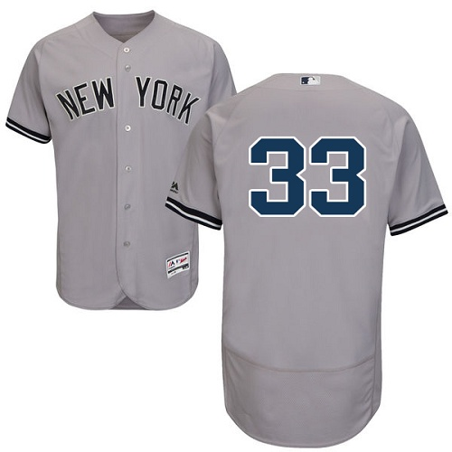 Yankees #33 Greg Bird Grey Flexbase Authentic Collection Stitched MLB Jersey