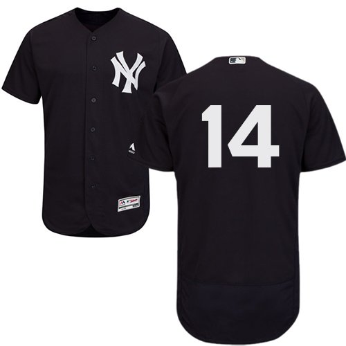 Yankees #14 Neil Walker Navy Blue Flexbase Authentic Collection Stitched MLB Jersey