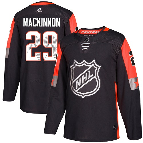 Adidas Avalanche #29 Nathan MacKinnon Black 2018 All-Star Central Division Authentic Stitched NHL Jersey