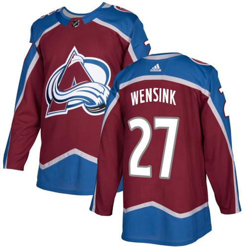 Adidas Avalanche #27 John Wensink Burgundy Home Authentic Stitched NHL Jersey