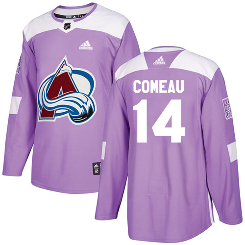 Adidas Avalanche #14 Blake Comeau Purple Authentic Fights Cancer Stitched NHL Jersey