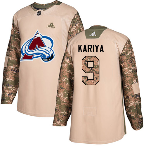 Adidas Avalanche #9 Paul Kariya Camo Authentic Veterans Day Stitched NHL Jersey