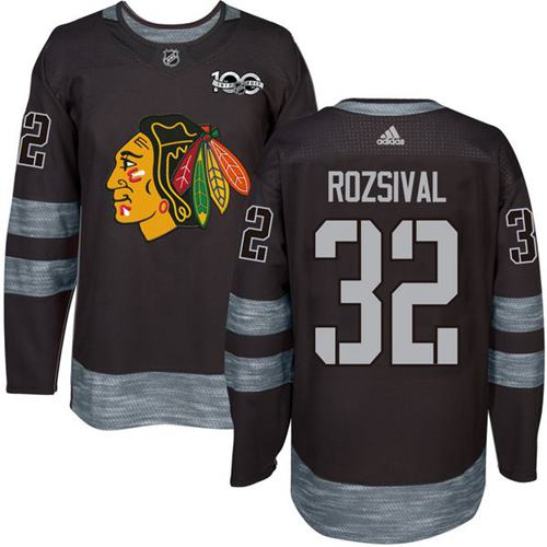 Adidas Blackhawks #32 Michal Rozsival Black 1917-100th Anniversary Stitched NHL Jersey