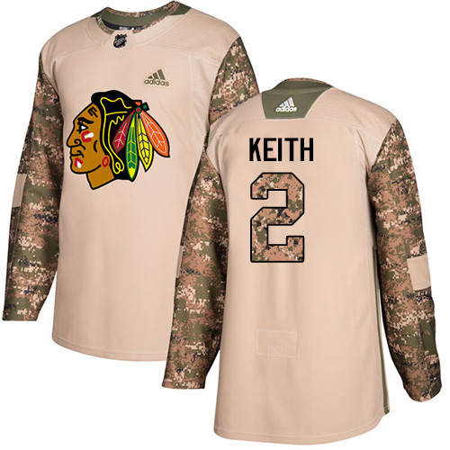Adidas Blackhawks #2 Duncan Keith Camo Authentic Veterans Day Stitched NHL Jersey