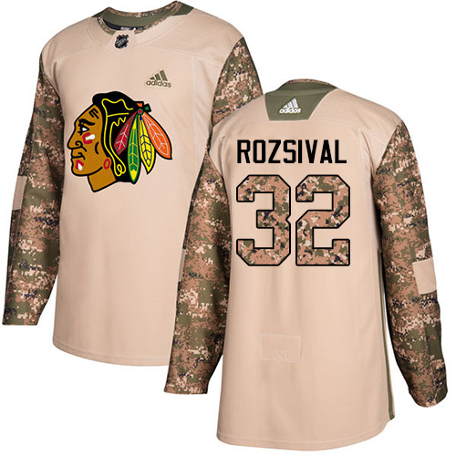 Adidas Blackhawks #32 Michal Rozsival Camo Authentic Veterans Day Stitched NHL Jersey