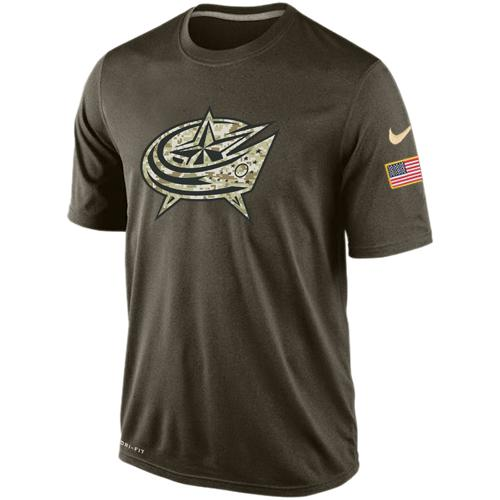 Men's Columbus Blue Jackets Salute To Service Nike Dri-FIT T-Shirt