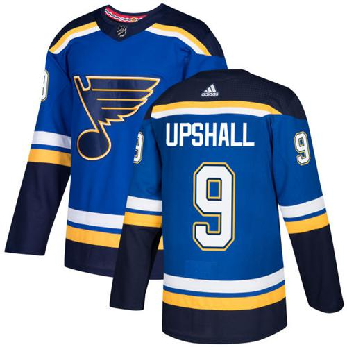 Adidas Blues #9 Scottie Upshall Blue Home Authentic Stitched NHL Jersey