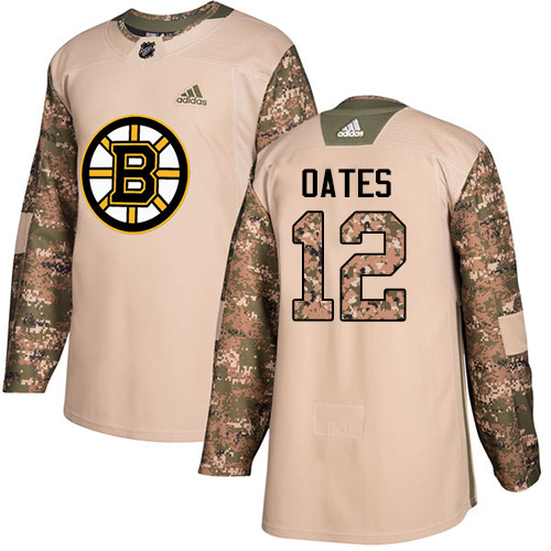 Adidas Bruins #12 Adam Oates Camo Authentic Veterans Day Stitched NHL Jersey