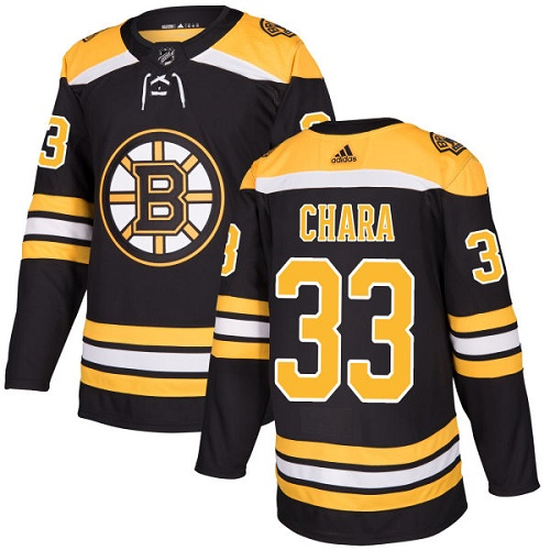Adidas Bruins #33 Zdeno Chara Black Home Authentic Stitched NHL Jersey