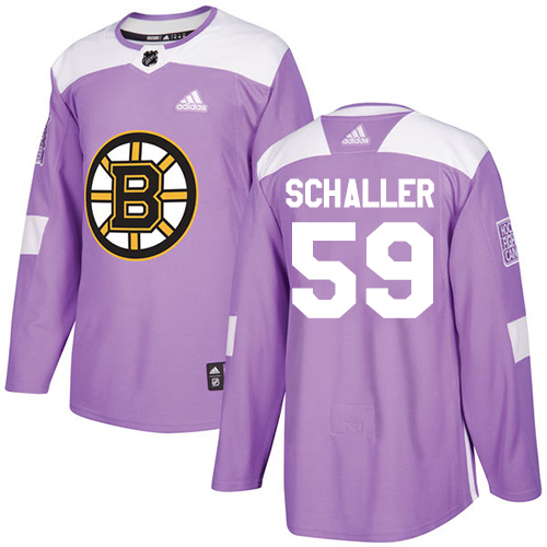 Adidas Bruins #59 Tim Schaller Purple Authentic Fights Cancer Stitched NHL Jersey