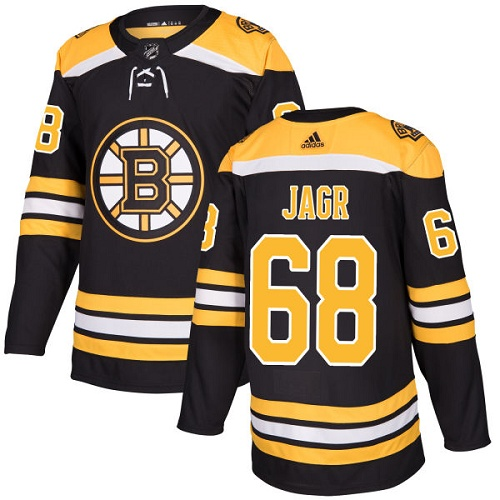 Adidas Bruins #68 Jaromir Jagr Black Home Authentic Stitched NHL Jersey
