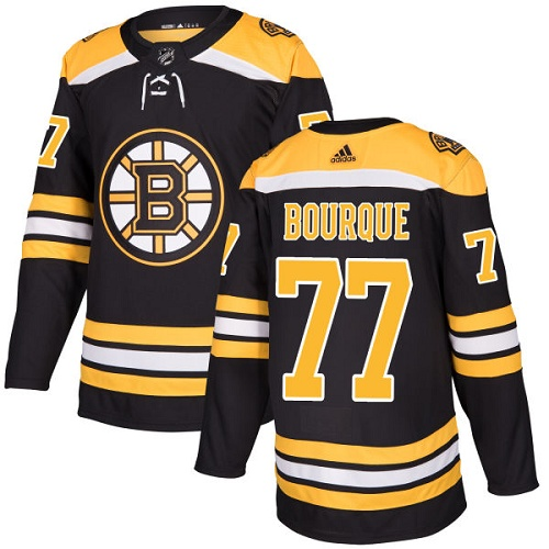 Adidas Bruins #77 Ray Bourque Black Home Authentic Stitched NHL Jersey