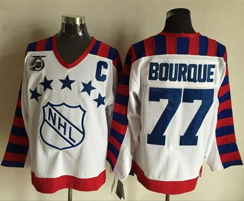 Bruins #77 Ray Bourque White All Star CCM Throwback 75TH Stitched NHL Jersey