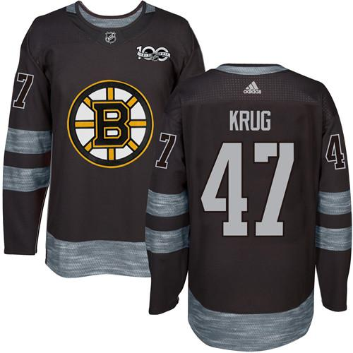 Adidas Bruins #47 Torey Krug Black 1917-100th Anniversary Stitched NHL Jersey
