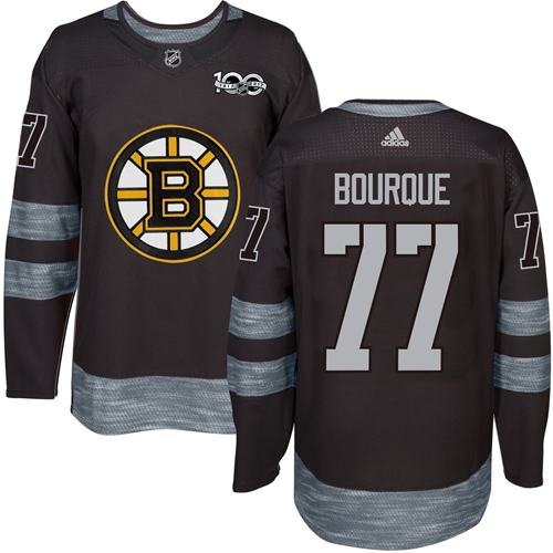 Adidas Bruins #77 Ray Bourque Black 1917-100th Anniversary Stitched NHL Jersey