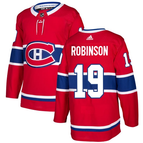 Adidas Canadiens #19 Larry Robinson Red Home Authentic Stitched NHL Jersey