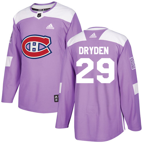 Adidas Canadiens #29 Ken Dryden Purple Authentic Fights Cancer Stitched NHL Jersey
