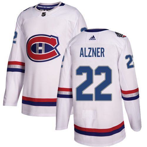 Adidas Canadiens #22 Karl Alzner White Authentic 100 Classic Stitched NHL Jersey