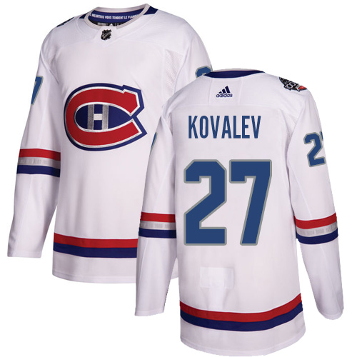 Adidas Canadiens #27 Alexei Kovalev White Authentic 100 Classic Stitched NHL Jersey
