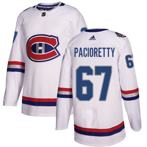 Adidas Canadiens #67 Max Pacioretty White Authentic 100 Classic Stitched NHL Jersey