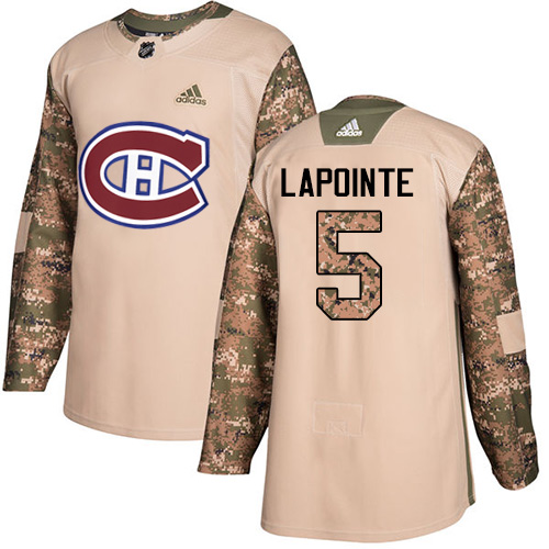 Adidas Canadiens #5 Guy Lapointe Camo Authentic Veterans Day Stitched NHL Jersey