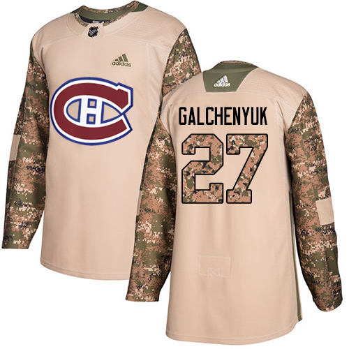 Adidas Canadiens #27 Alex Galchenyuk Camo Authentic Veterans Day Stitched NHL Jersey