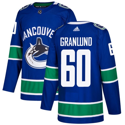 Adidas Canucks #60 Markus Granlund Blue Home Authentic Stitched NHL Jersey
