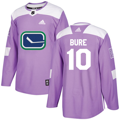 Adidas Canucks #10 Pavel Bure Purple Authentic Fights Cancer Stitched NHL Jersey