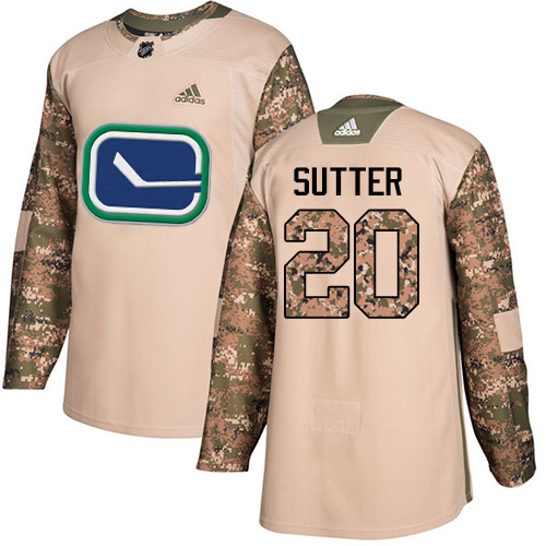 Adidas Canucks #20 Brandon Sutter Camo Authentic Veterans Day Stitched NHL Jersey