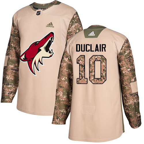 Adidas Coyotes #10 Anthony Duclair Camo Authentic Veterans Day Stitched NHL Jersey