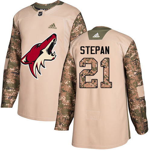 Adidas Coyotes #21 Derek Stepan Camo Authentic Veterans Day Stitched NHL Jersey