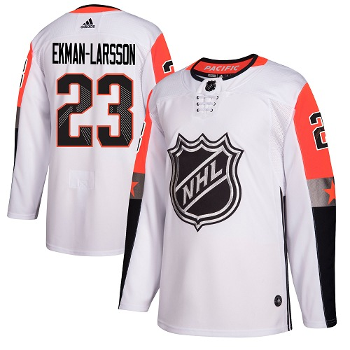 Adidas Coyotes #23 Oliver Ekman-Larsson White 2018 All-Star Pacific Division Authentic Stitched NHL Jersey