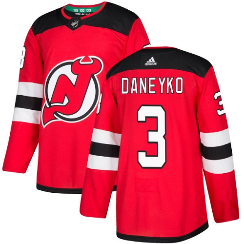 Adidas Devils #3 Ken Daneyko Red Home Authentic Stitched NHL Jersey