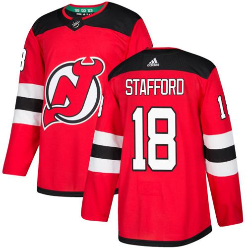 Adidas Devils #18 Drew Stafford Red Home Authentic Stitched NHL Jersey