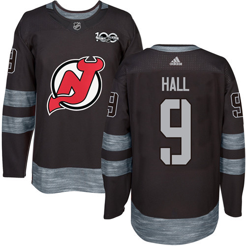 Adidas Devils #9 Taylor Hall Black 1917-100th Anniversary Stitched NHL Jersey