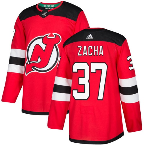 Adidas Devils #37 Pavel Zacha Red Home Authentic Stitched NHL Jersey
