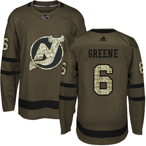 Adidas Devils #6 Andy Greene Green Salute to Service Stitched NHL Jersey