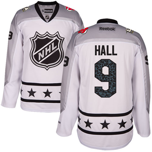 Devils #9 Taylor Hall White All-Star Metropolitan Division Stitched NHL Jersey