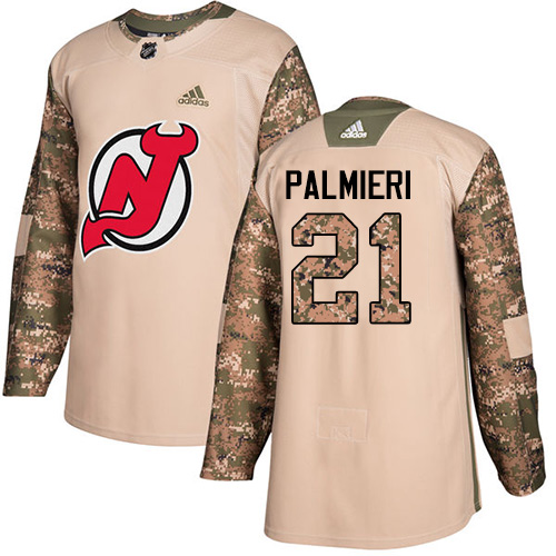 Adidas Devils #21 Kyle Palmieri Camo Authentic Veterans Day Stitched NHL Jersey