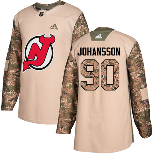 Adidas Devils #90 Marcus Johansson Camo Authentic Veterans Day Stitched NHL Jersey