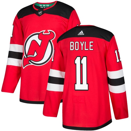 Adidas Devils #11 Brian Boyle Red Home Authentic Stitched NHL Jersey